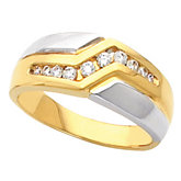 Two Tone 10- Stone Men's Ring Mounting