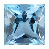 Square Genuine Aquamarine (Black Box)