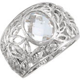 Be Posh® Checkerboard Clear Quartz Ring