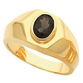 Men's Ring Mounting for Oval Center