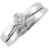 Round Diamond Tulipset® Solitaire Engagement Ring