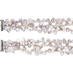 Freshwater Cultured Keshi Pearl Bracelet or Necklace