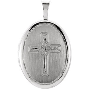 Oval Cross Locket
