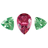 Genuine Pink Tourmaline & Tsavorite Garnet Layout