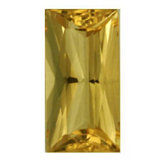 Straight Baguette Genuine Golden Precious Topaz (Black Box)