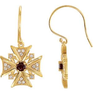 Vintage-Inspired Cross Dangle Earrings