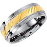 Titanium Band with Gold Ion Plated Inlay