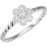 Stackable CZ Flower Ring