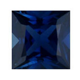 Square Genuine Blue Sapphire (Black Box)