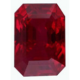 Emerald/Octagon Genuine Ruby (Black Box)