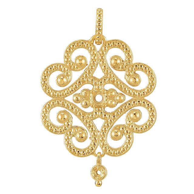 Diamond Designs 18kt Yellow Granulated Design Pendant Mounting from Diamond Designs