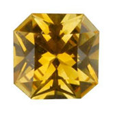 Modified Square Genuine Yellow Sapphire (Black Box)