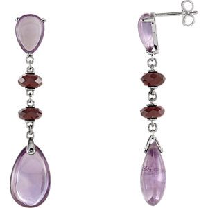 Amethyst & Brazilian Garnet Earrings