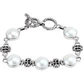 Mabé Cultured Pearl Bracelet
