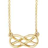 Infinity-Style Knot Design Necklace