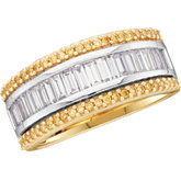 1 CTW Yellow & White Diamond Anniversary Band