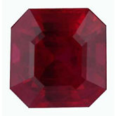 Modified Square Genuine Ruby (Black Box)