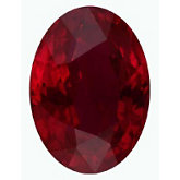Oval Genuine Ruby (Black Box)