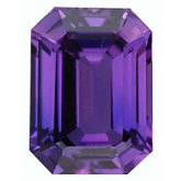 Emerald/Octagon Genuine Purple Sapphire (Black Box)