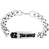 North Carolina Tar Heels Logo ID Bracelet