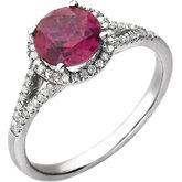 Gemstone & Diamond Birthstone Ring