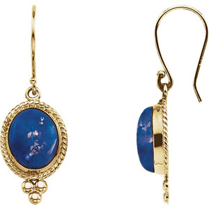 Lapis Cabochon Earrings