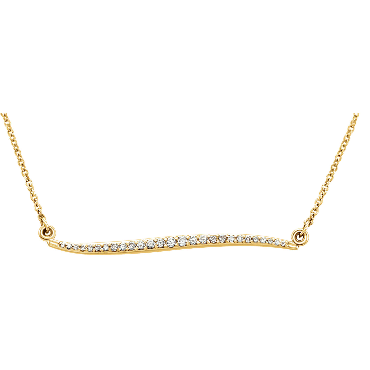 "14kt Yellow 1/6 CTW Diamond 17.5"" Necklace"