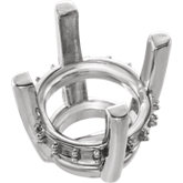 Round 4-Prong Accented Basket Earring Setting