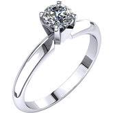 Round 4-Prong Light Solitaire Ring or Mounting