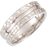 Fancy Carved Design Band 7.5mm