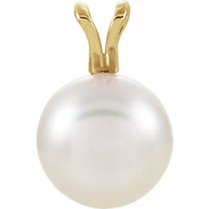 14kt Yellow  mm Akoya<br> Aultured Pearl Pendant