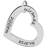 Posh Mommy® Engravable Medium Heart Pendant