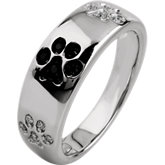 Tender Voices® Animal Paw Prints Ring