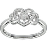 Diamond Triple Heart Ring