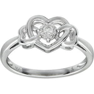 .05 CTW Diamond Heart Ring Ref 650059