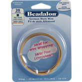 Beadalon®  Fancy Square Non Tarnish Brass 24 Gauge Wire