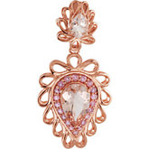 Genuine Morganite & Pink Tourmaline Pendant