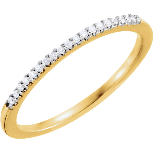 14K Yellow .08 CTW Diamond Band Size 7