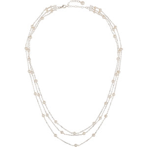Sterling Silver 4-4.5mm<br> Freshwater Aultured Pearl<br> A Tiered 17