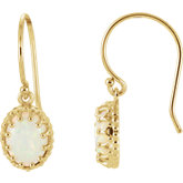 Oval Crown Design Gemstone Earrings or Mounting