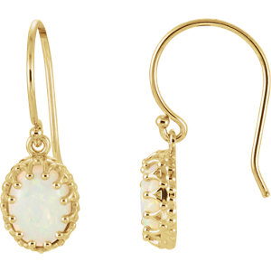 14kt Yellow Opal Earrings