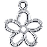 Floral Design Dangle Component with Jump Ring