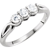 3-Stone Diamond Ring or Mounting
