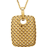 Rectangular Pierced-Styled Pendant or Necklace