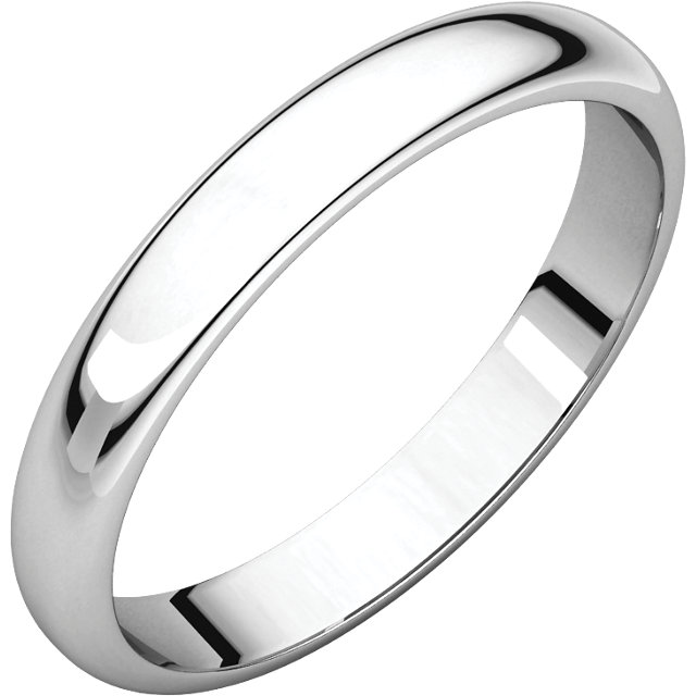 Sterling Silver 4mm Half Round Light Band