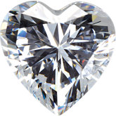 Heart Lab Created White Cubic Zirconia