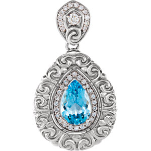 Gemstone & Diamond Pendant or Mounting