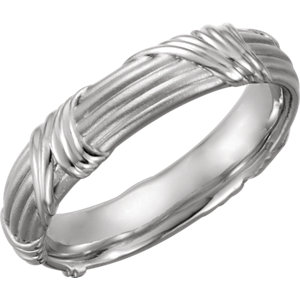 Sculptural 6mm Band