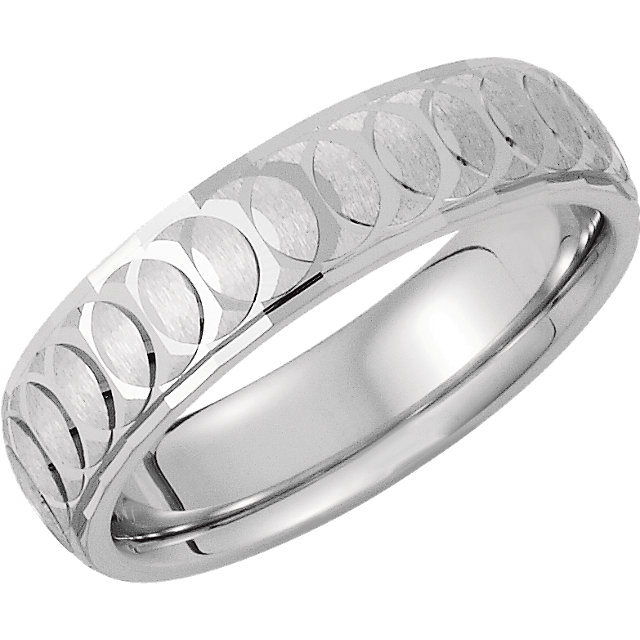 Sterling Silver 6mm Comfort-Fit Band Size 8.5