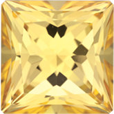 Square SWAROVSKI GEMS™ Genuine Honey Topaz